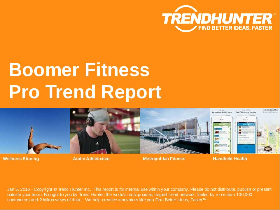 Boomer Fitness Trend Report Research
