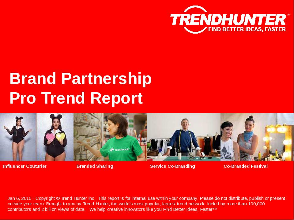 Brand Partnership Trend Report Research