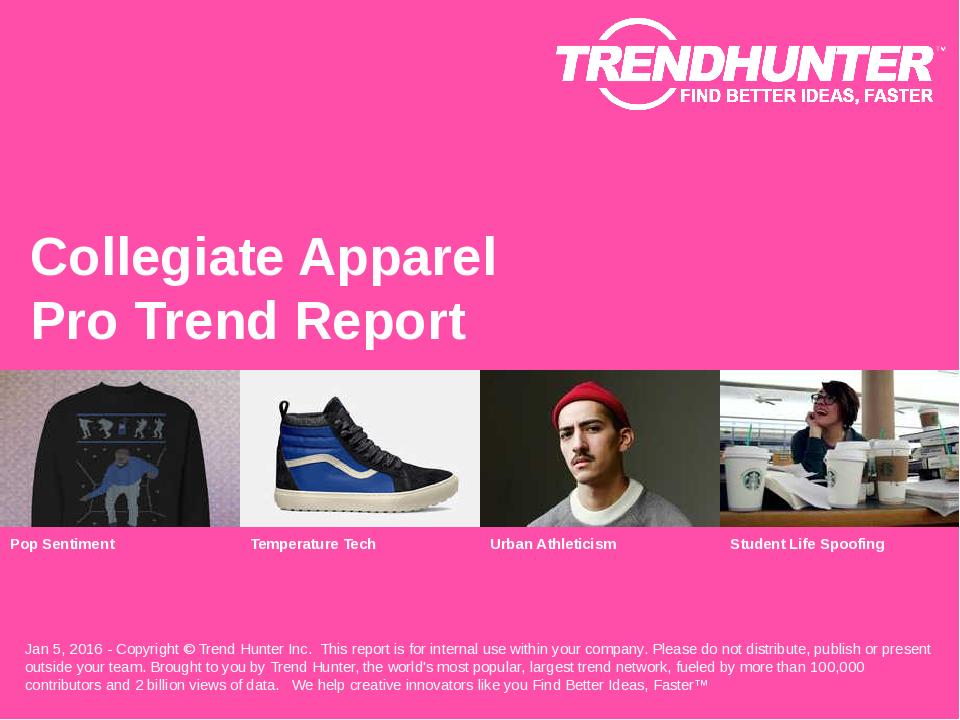Collegiate Apparel Trend Report Research