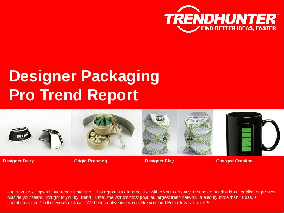 Designer Packaging Trend Report Research