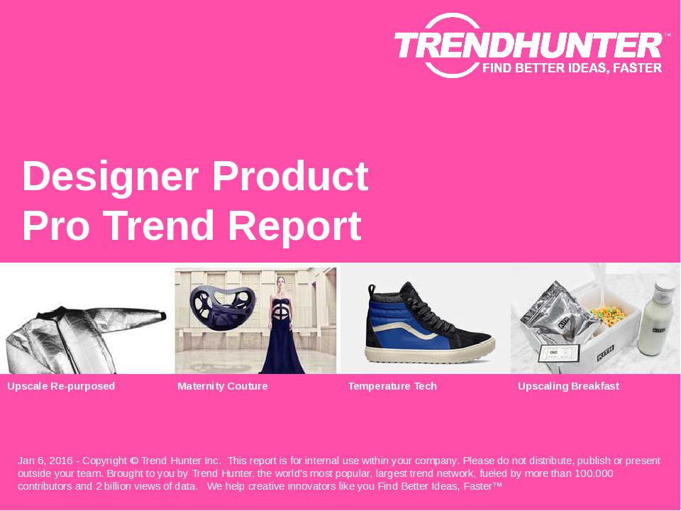 Designer Product Trend Report Research
