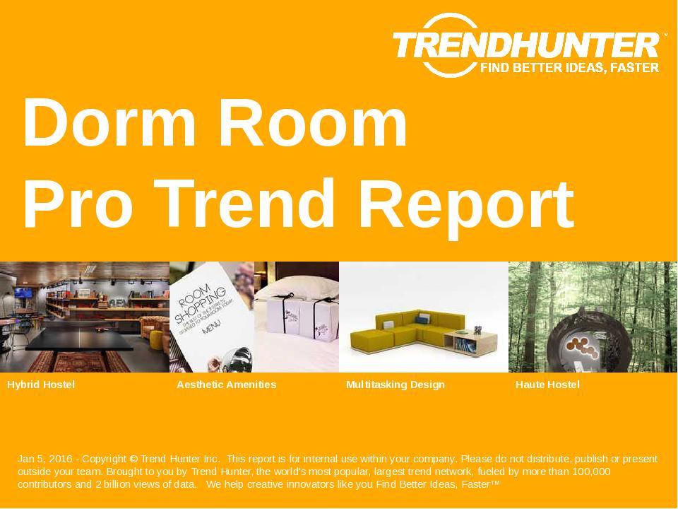Dorm Room Trend Report Research