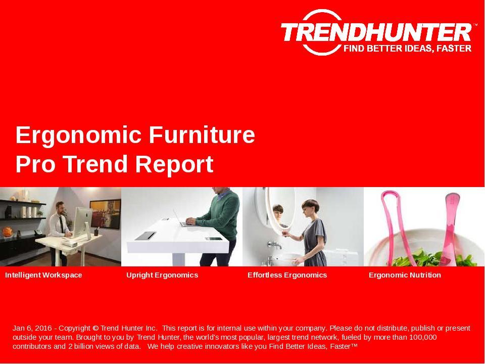 Ergonomic Furniture Trend Report Research