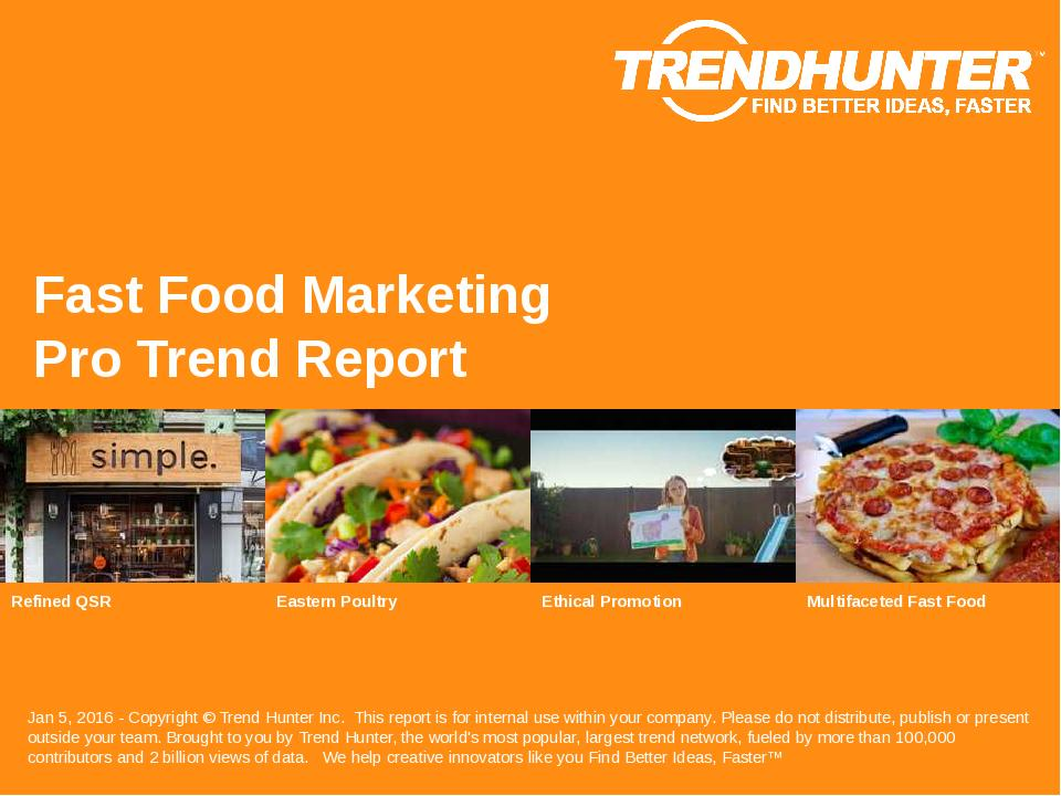 Fast Food Marketing Trend Report Research