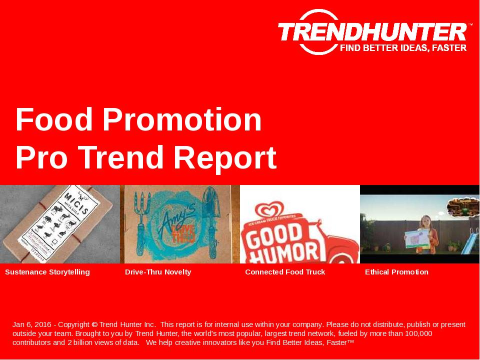 Food Promotion Trend Report Research