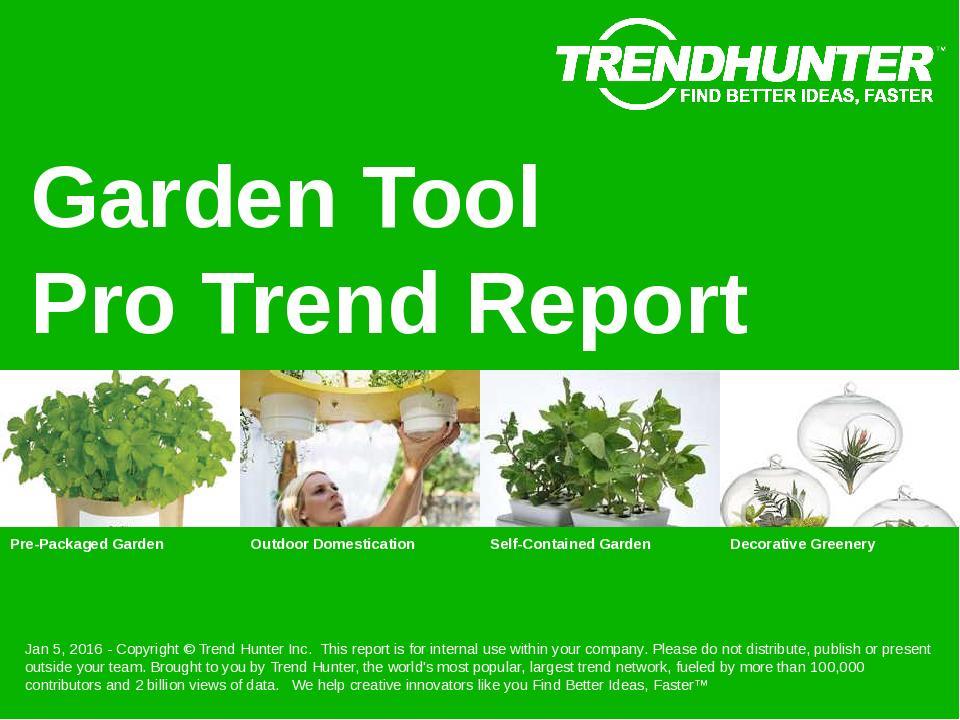 Garden Tool Trend Report Research