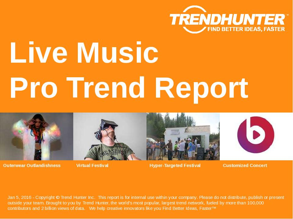Live Music Trend Report Research