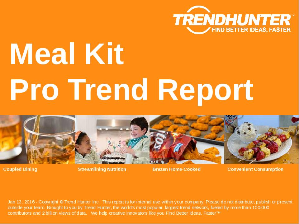 Meal Kit Trend Report Research