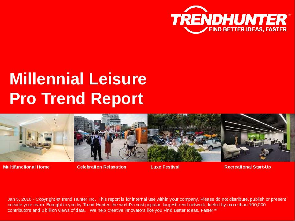 Millennial Leisure Trend Report Research