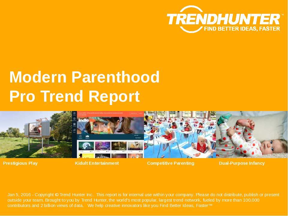 Modern Parenthood Trend Report Research