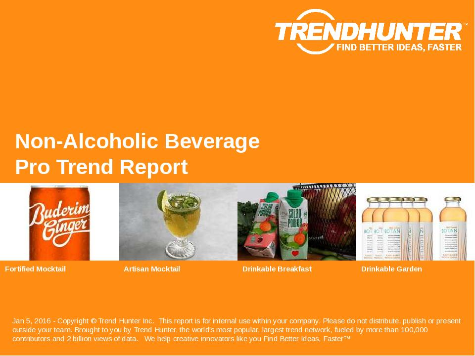 Non-Alcoholic Beverage Trend Report Research