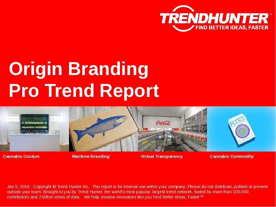 Origin Branding Trend Report Research