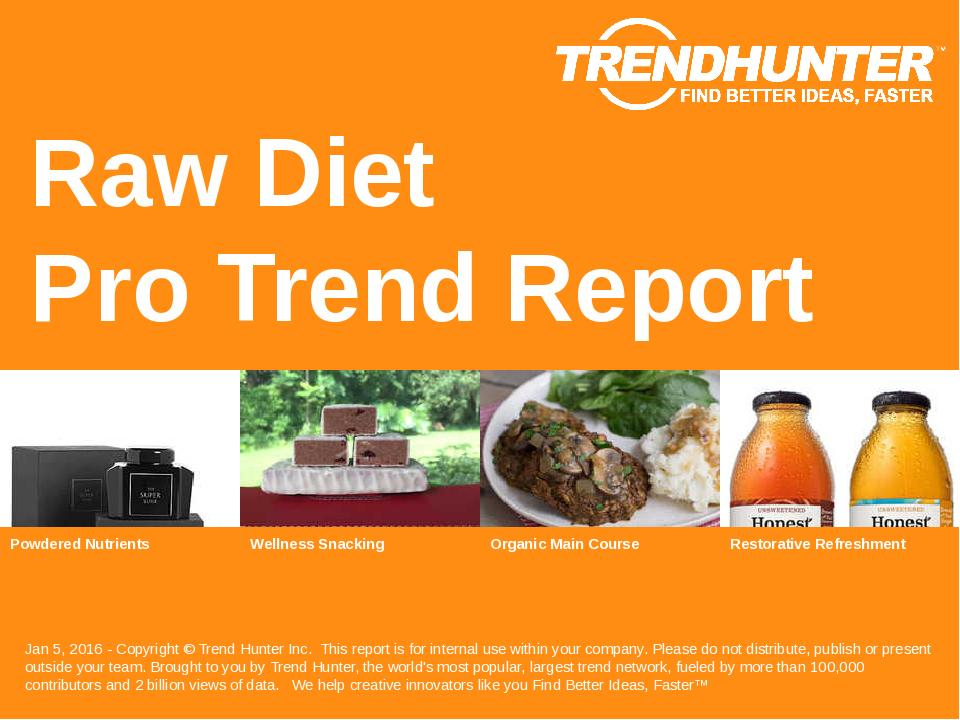 Raw Diet Trend Report Research