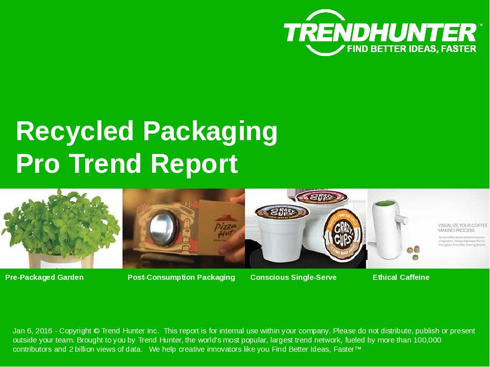 Recycled Packaging Trend Report Research