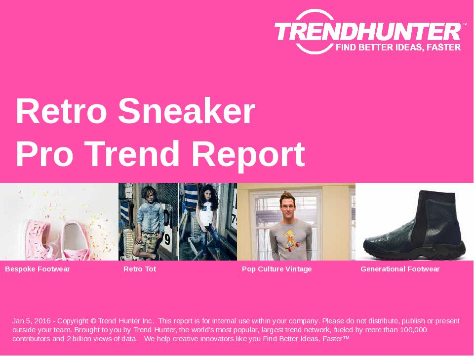 Retro Sneaker Trend Report Research