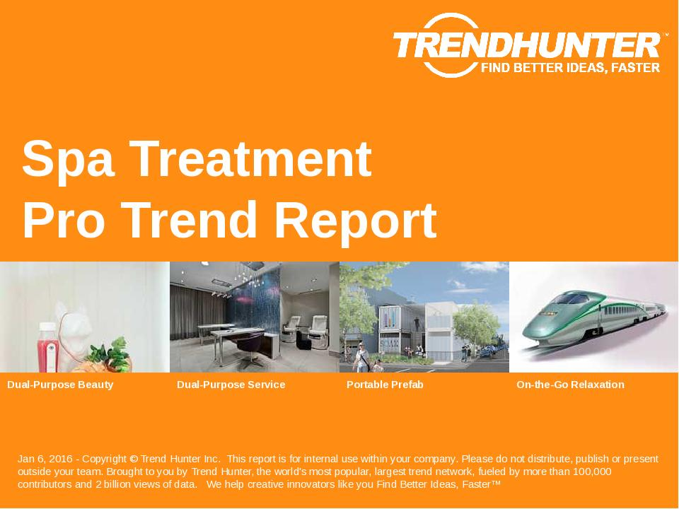 Spa Treatment Trend Report Research
