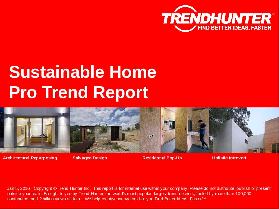 Sustainable Home Trend Report Research