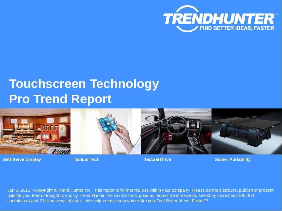 Touchscreen Technology Trend Report Research