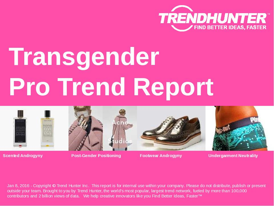 Transgender Trend Report Research