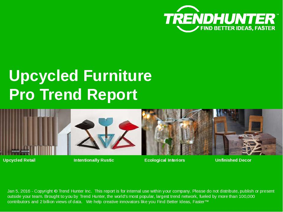Upcycled Furniture Trend Report Research