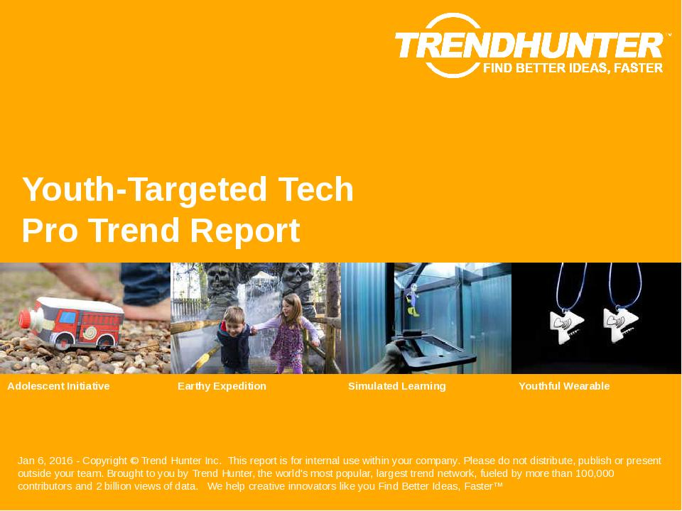 Youth-Targeted Tech Trend Report Research