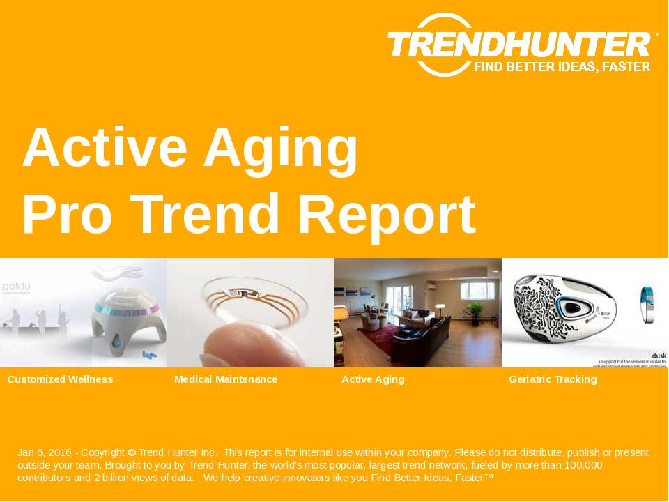 Active Aging Trend Report Research