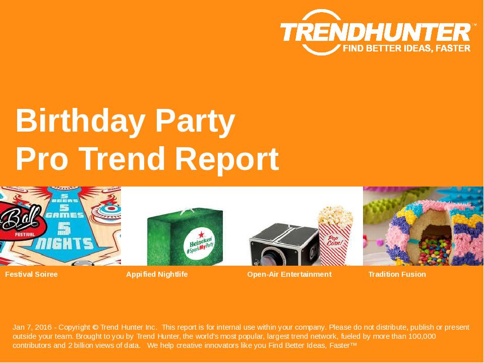 Birthday Party Trend Report Research