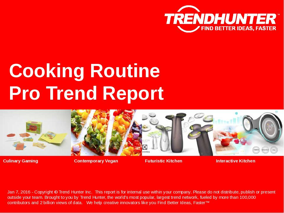 Cooking Routine Trend Report Research