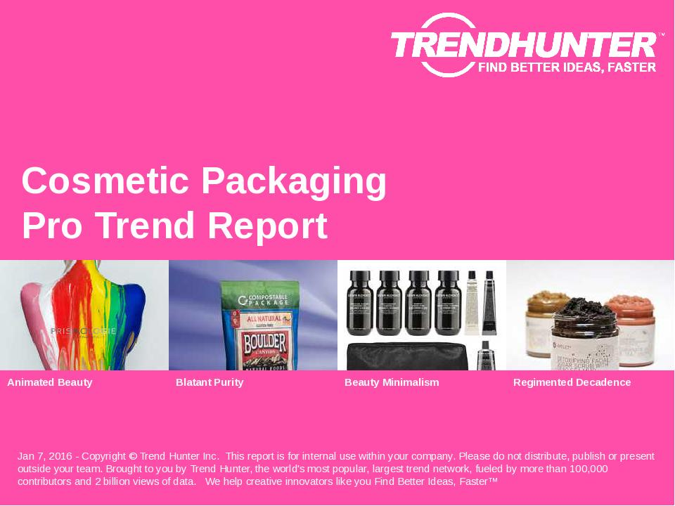 Cosmetic Packaging Trend Report Research