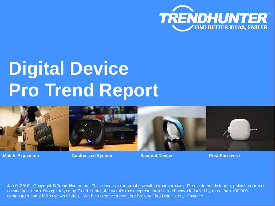 Digital Device Trend Report Research