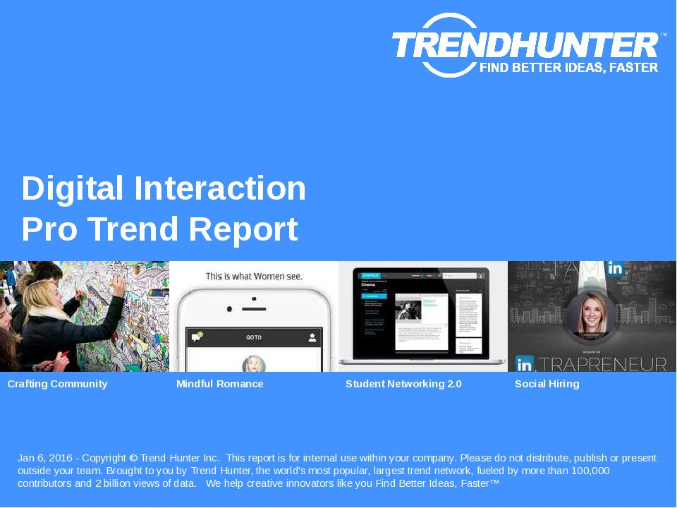 Digital Interaction Trend Report Research