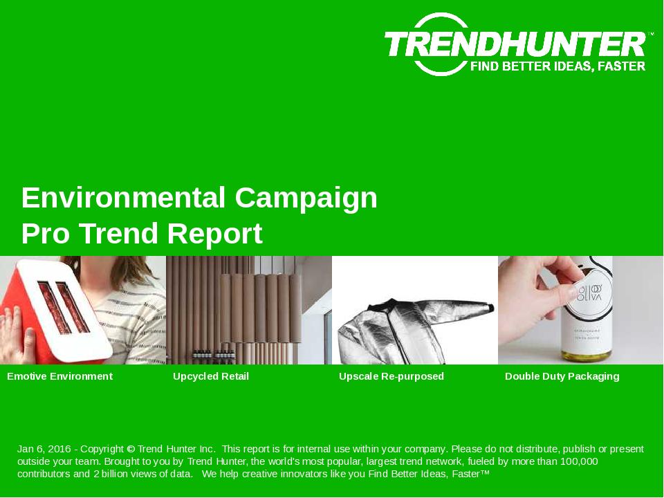 Environmental Campaign Trend Report Research