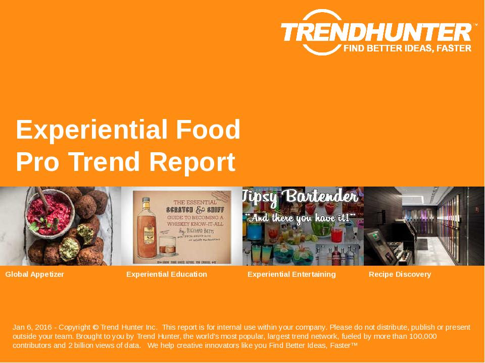 Experiential Food Trend Report Research