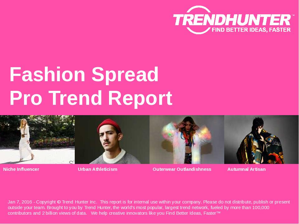 Fashion Spread Trend Report Research