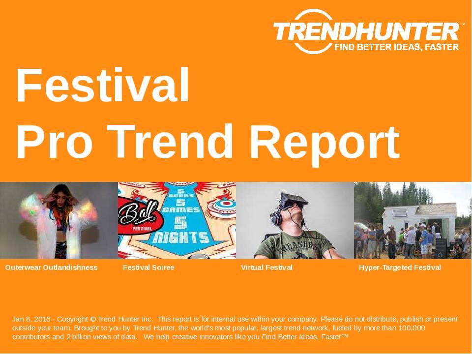 Festival Trend Report Research
