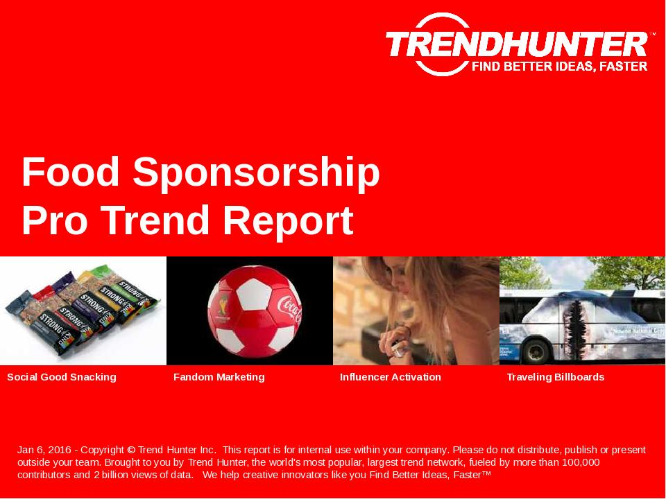 Food Sponsorship Trend Report Research