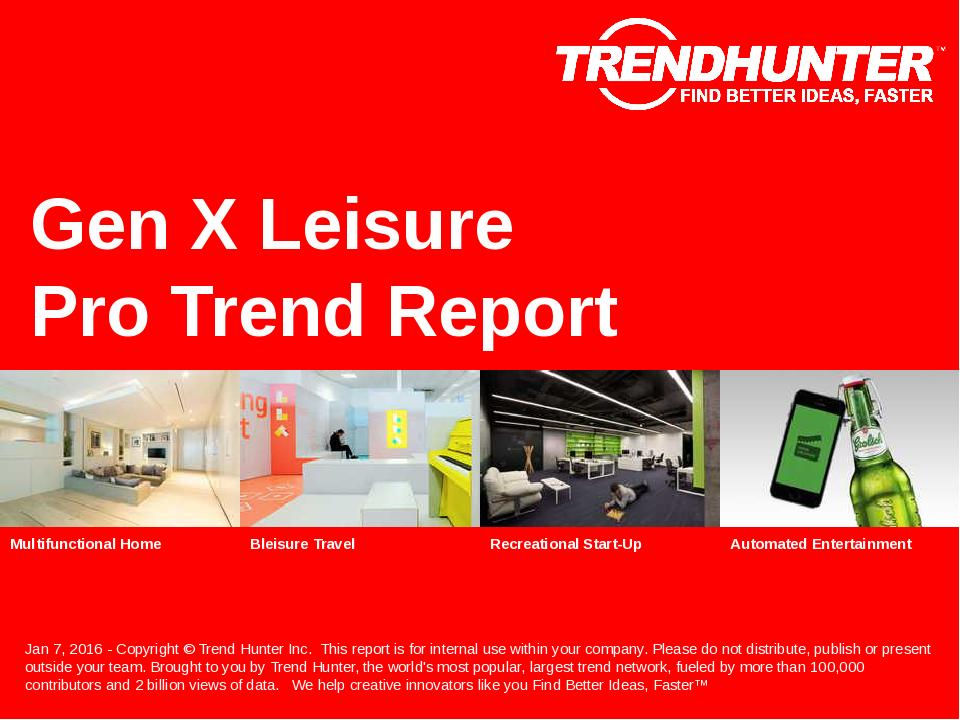 Gen X Leisure Trend Report Research