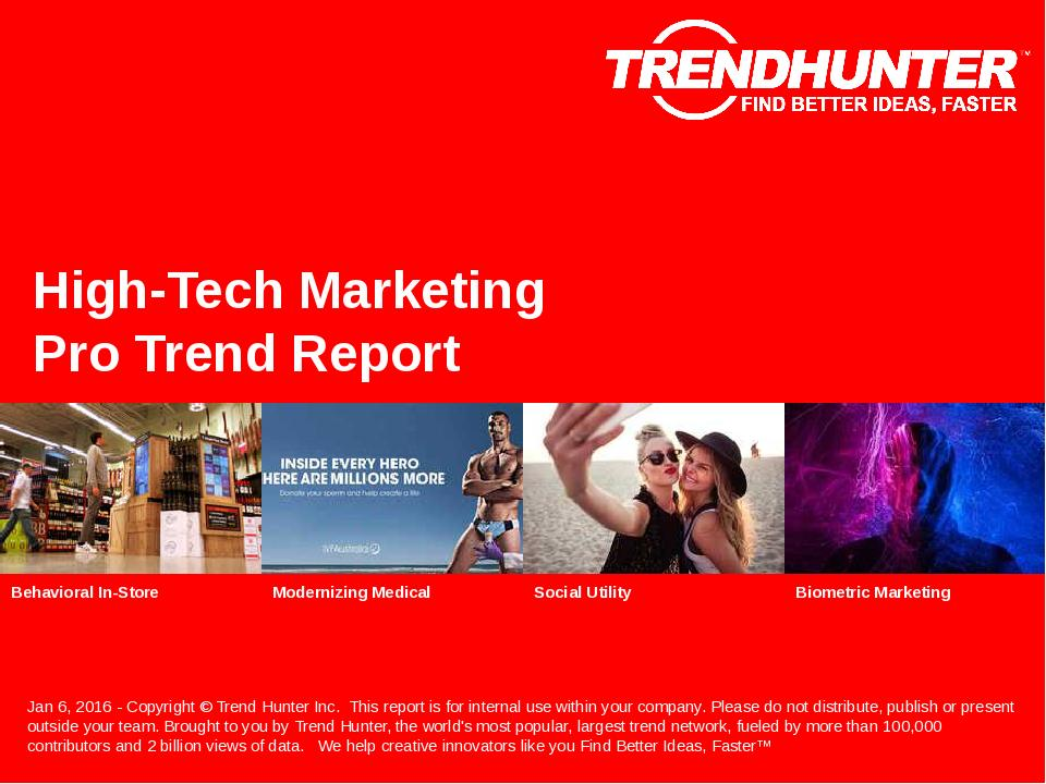 High-Tech Marketing Trend Report Research
