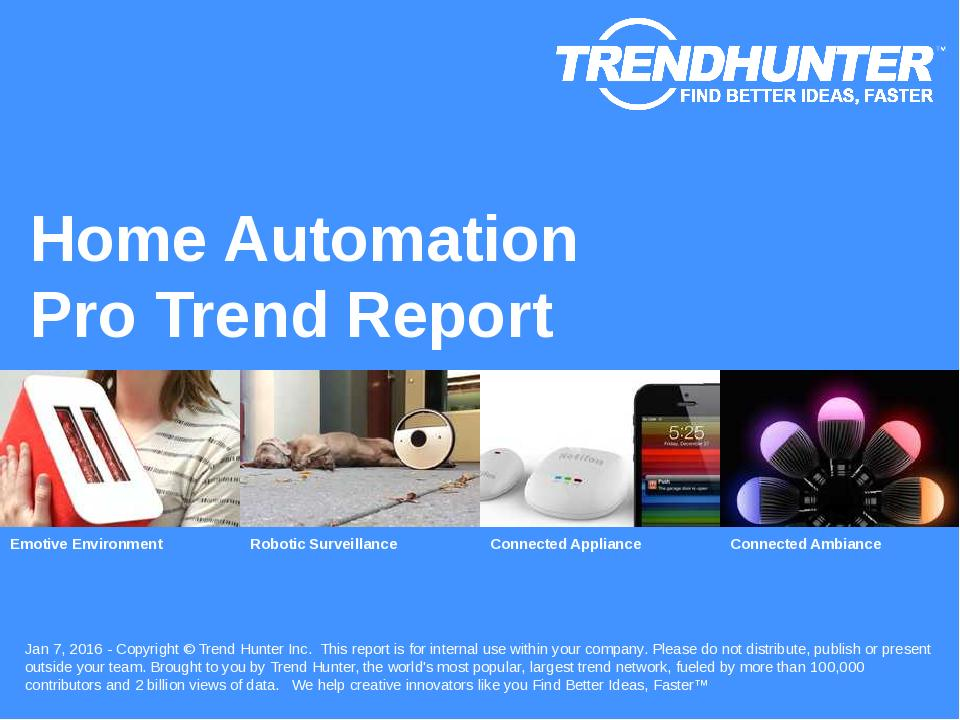 Home Automation Trend Report Research