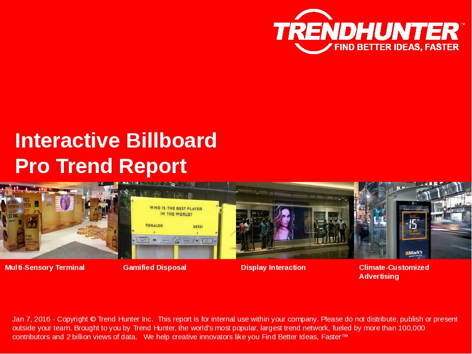 Interactive Billboard Trend Report Research