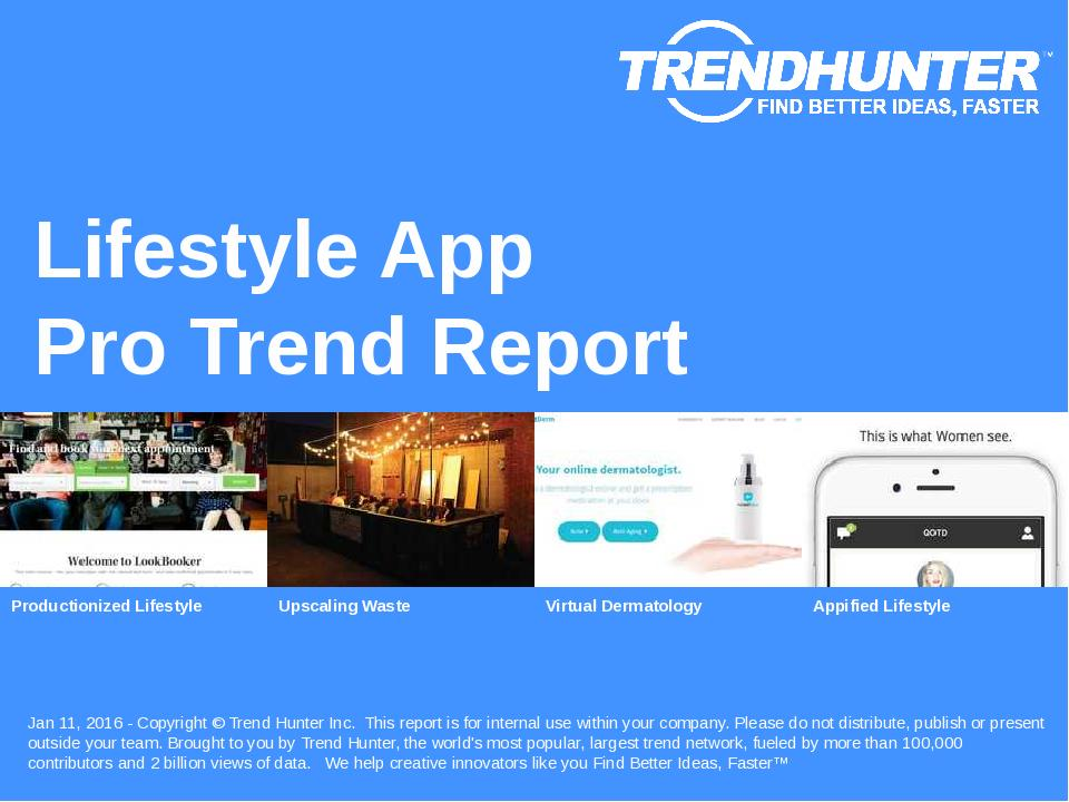 Lifestyle App Trend Report Research