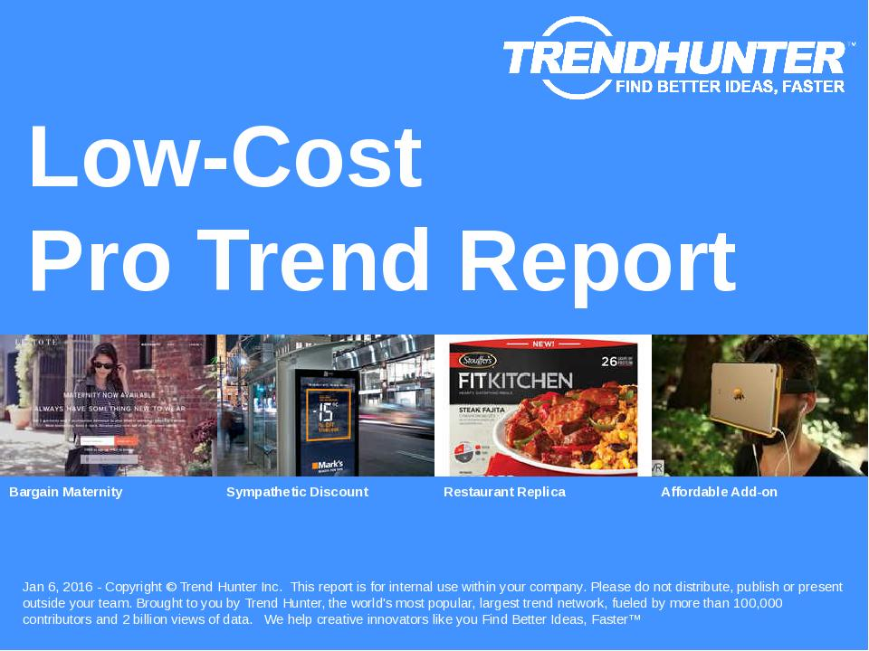 Low-Cost Trend Report Research