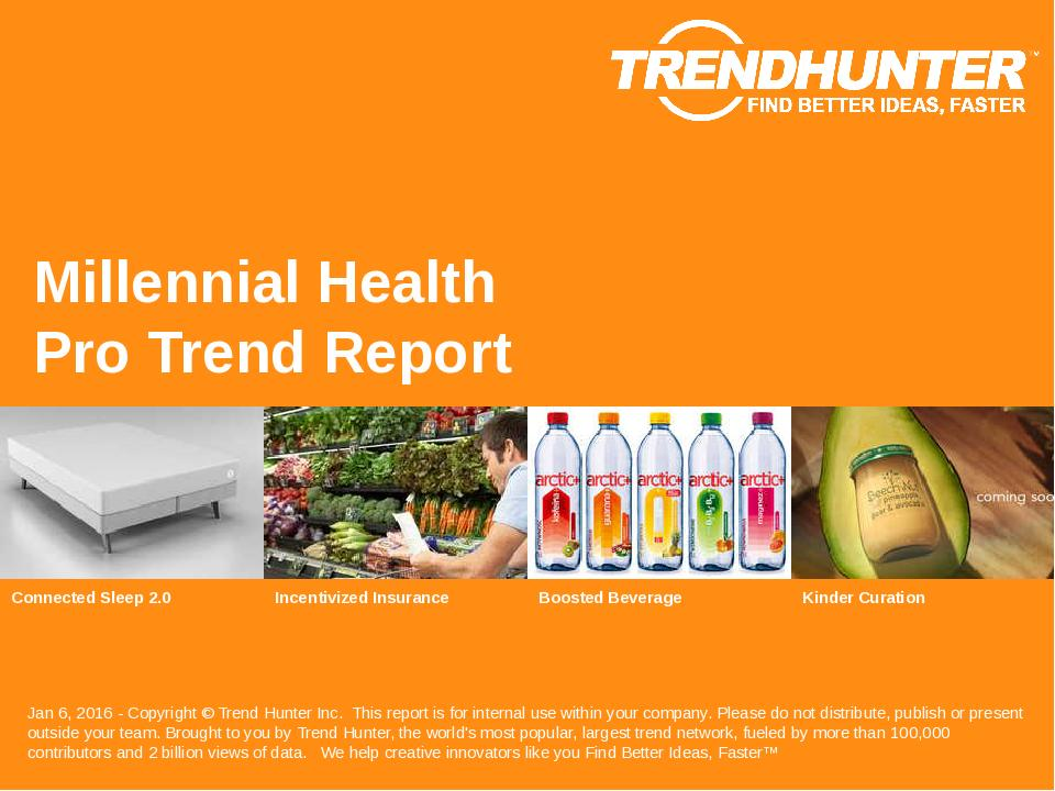 Millennial Health Trend Report Research
