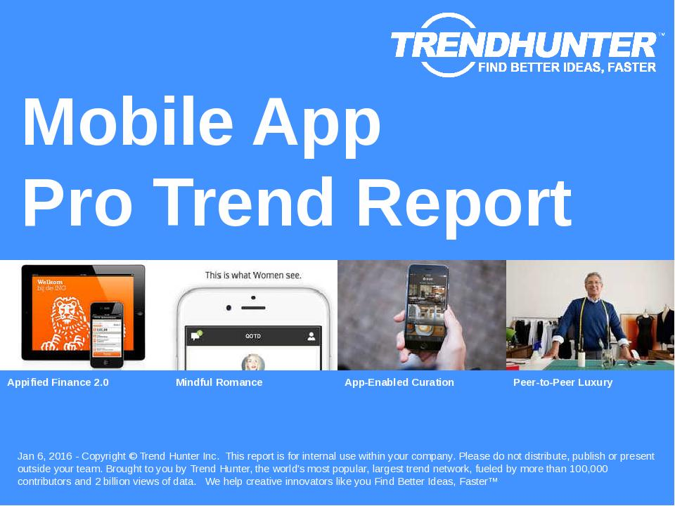 Mobile App Trend Report Research