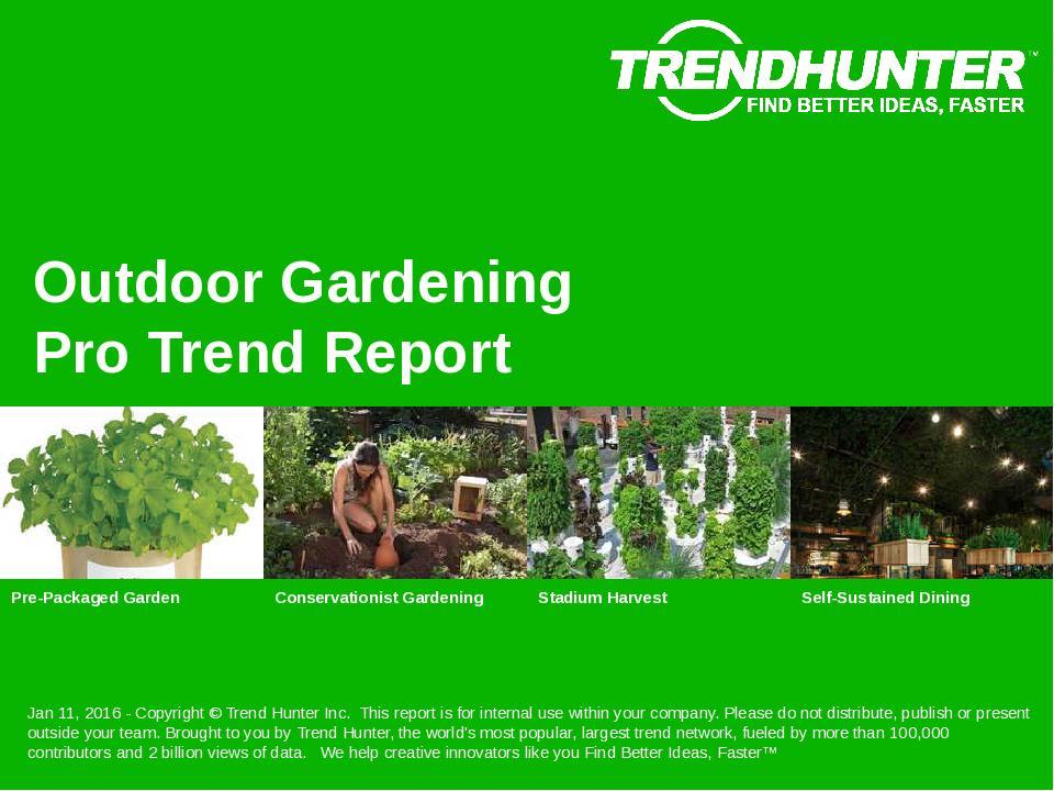 Outdoor Gardening Trend Report Research