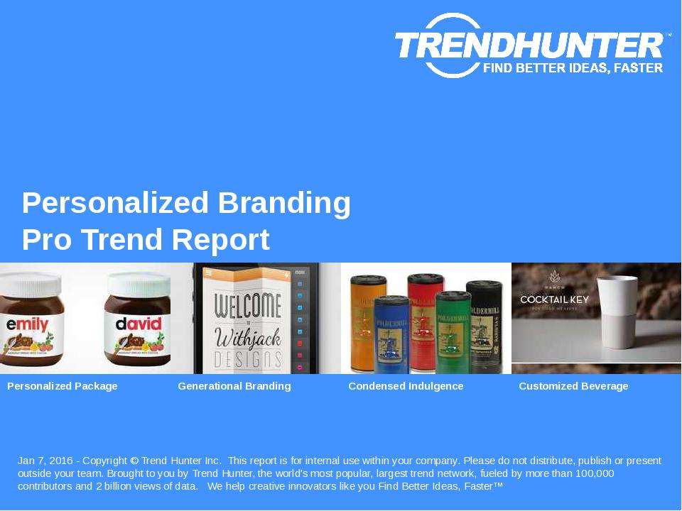 Personalized Branding Trend Report Research