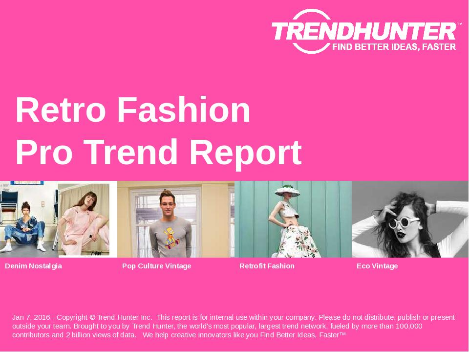 Retro Fashion Trend Report Research