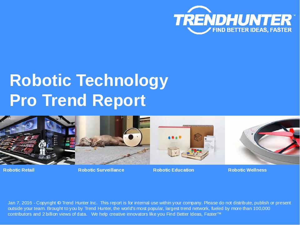 Robotic Technology Trend Report Research
