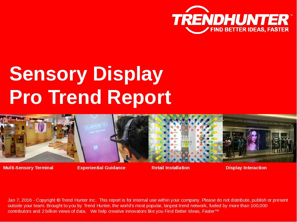 Sensory Display Trend Report Research