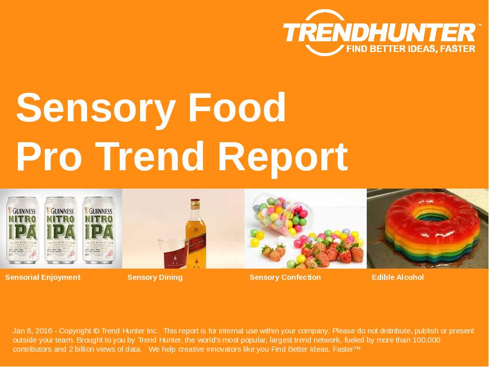 Sensory Food Trend Report Research